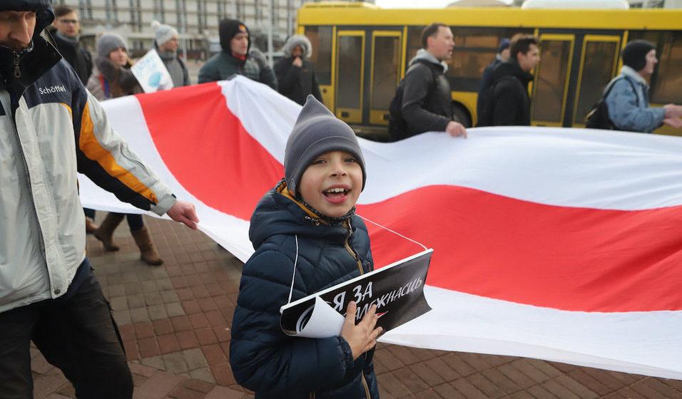 В Минске начался второй день антиинтеграционной акции протеста. Демонстранты идут к посольству России. Онлайн