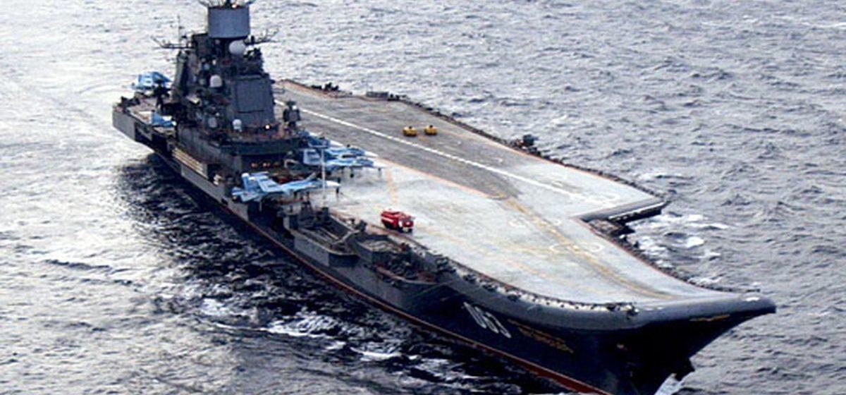 Единственный российский авианосец «Адмирал Кузнецов» горит в Мурманске — пострадали 10 человек