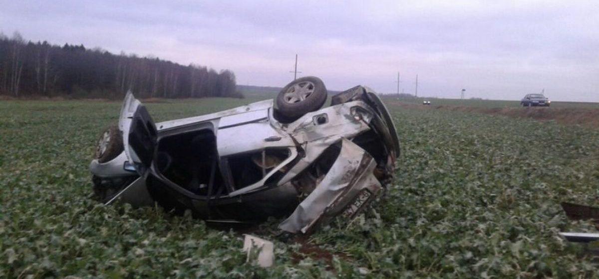 Под Осиповичами BMW вылетел в кювет и перевернулся — погиб один человек