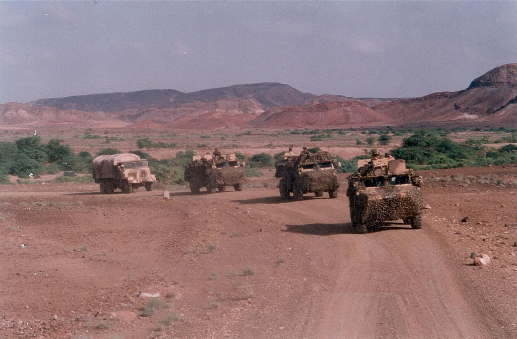 Колонна техники Иностранного легиона в Африке. Фото предоставлено героем интервью