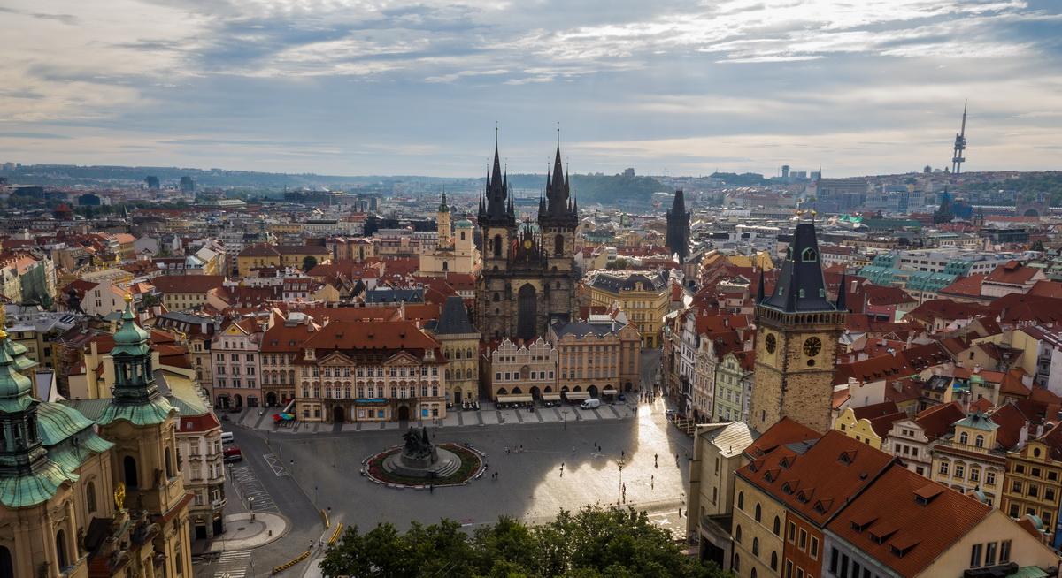 Вид на Прагу с высоты. Фото: архив семьи ЯКУШЕВИЧ