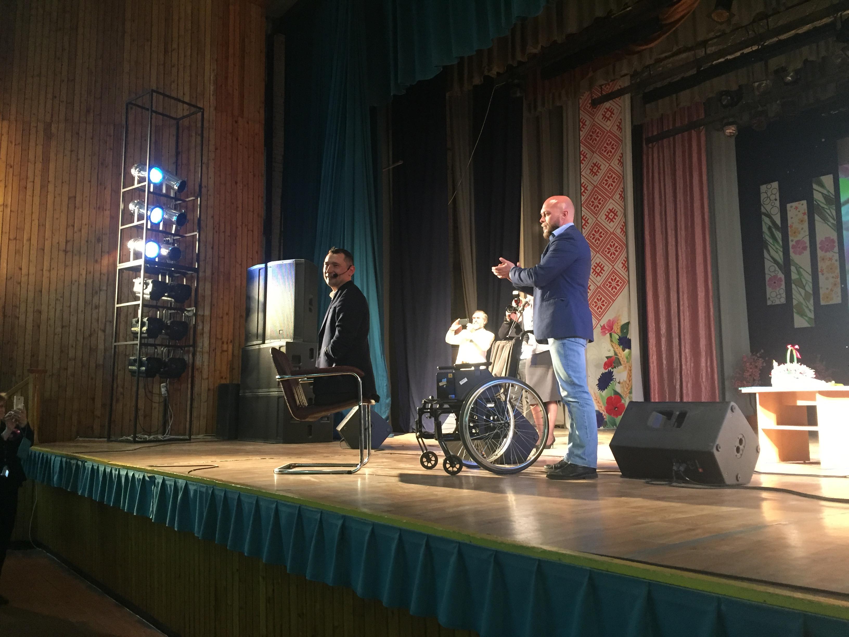 Алексей Талай (слева) рассказал зрителям, как расширить границы своих возможностей. Фото: Диана КОСЯКИНА