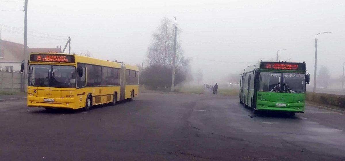 Автопарк корректирует движение автобуса по маршруту №18