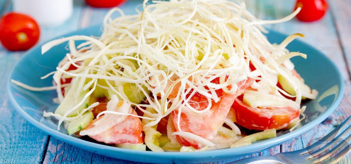 Вкусно и просто. Салат с сыром косичка