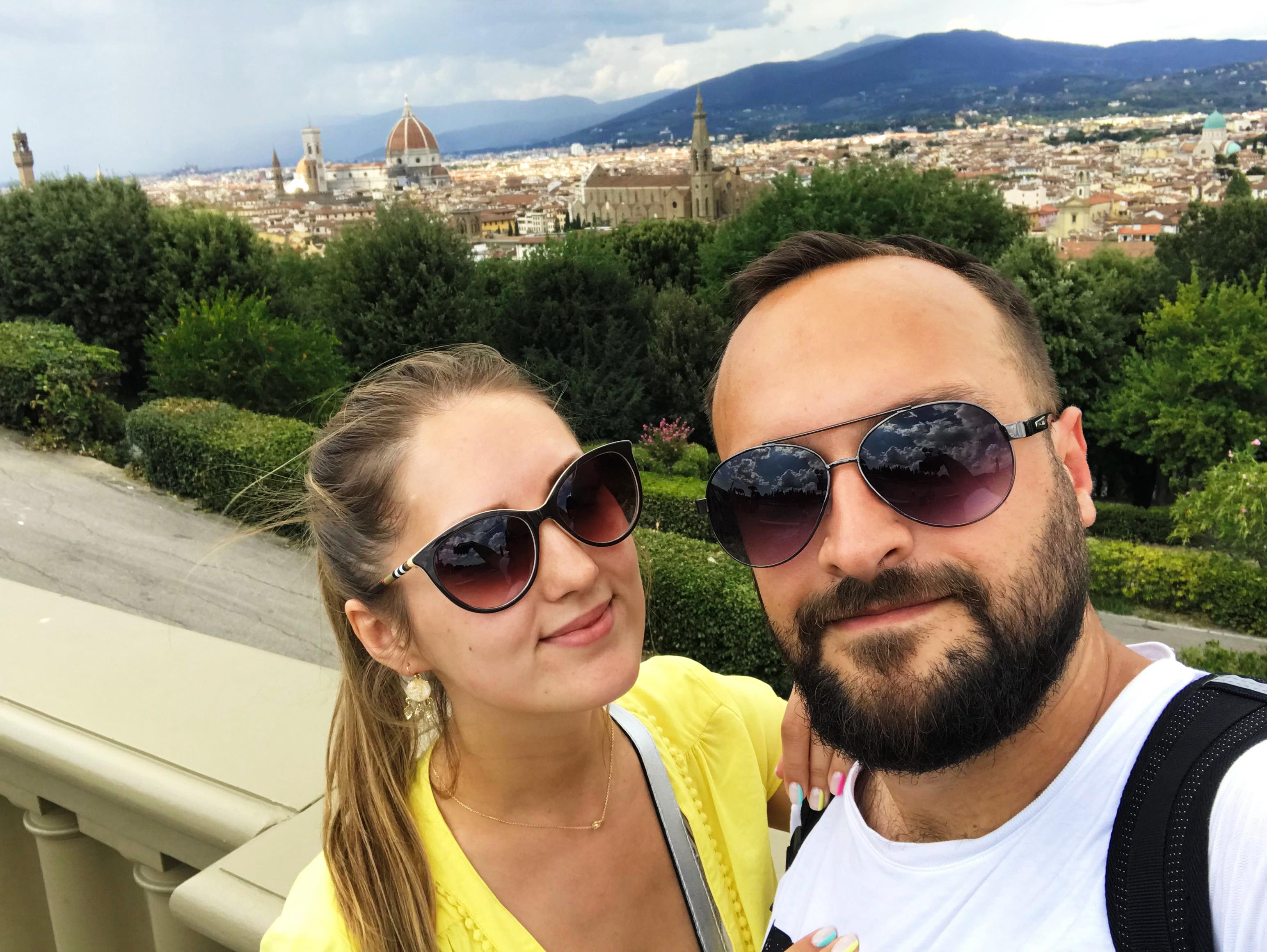 Павел и Вероника Якушевич во Флоренции. Фото: архив семьи ЯКУШЕВИЧ