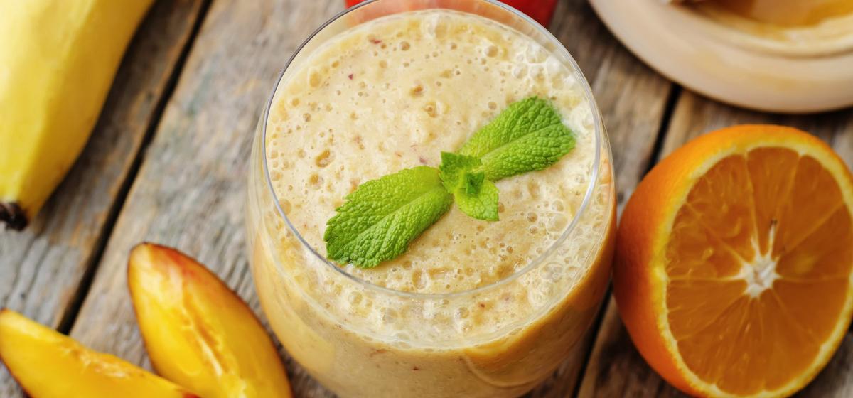 Вкусно и просто. Бананово-апельсиновый смузи