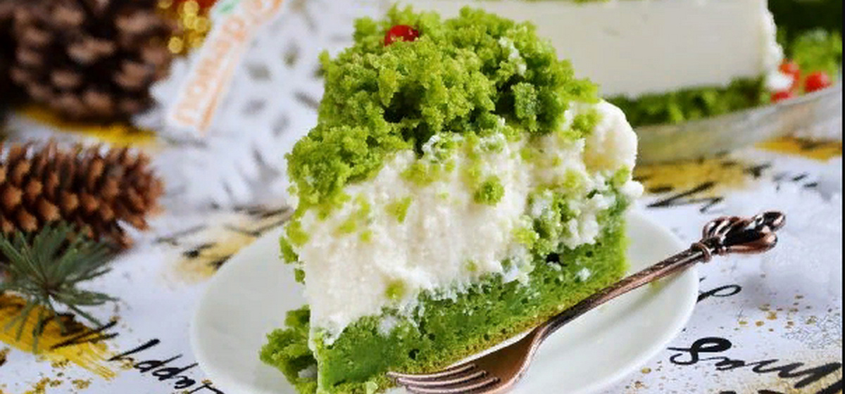 Вкусно и просто. Новогодний торт «Лесной мох»