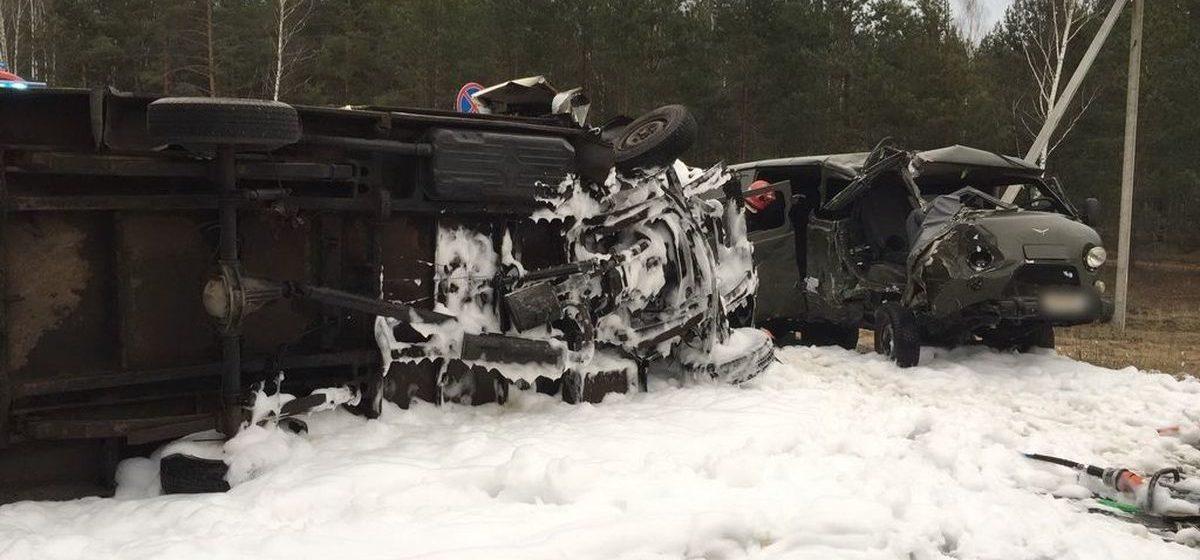 Микроавтобус «Mercedes-Benz» столкнулся с УАЗ в Светлогорском районе — пострадали пять человек. Фото