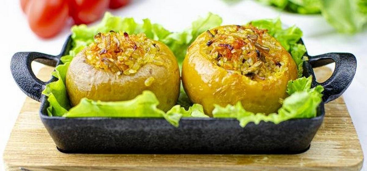 Вкусно и просто. Репа, фаршированная овощами и грибами