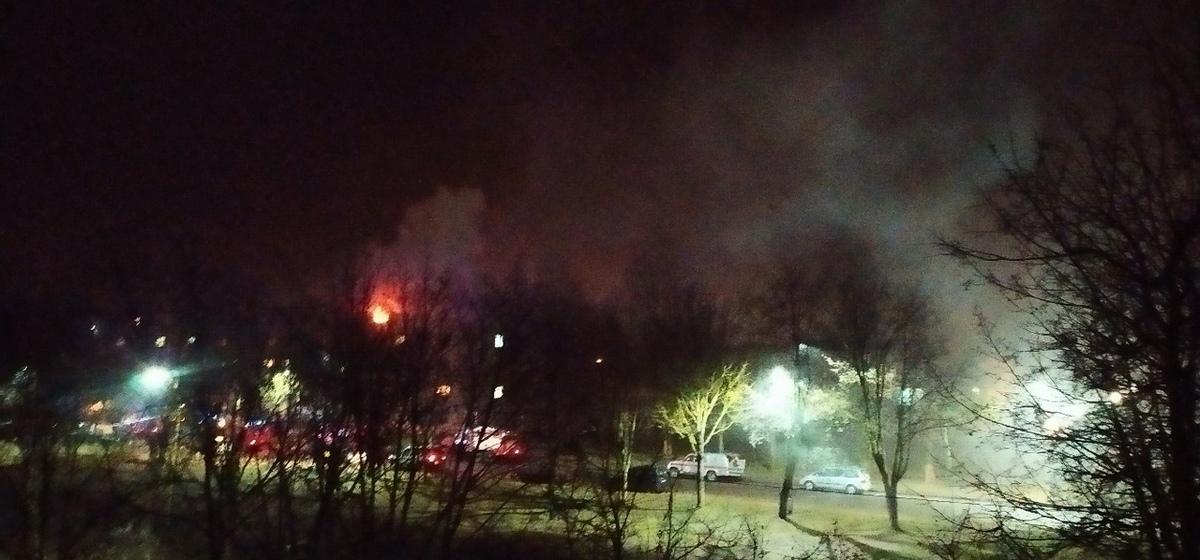 Эвакуировали 40 человек. Ночью в Барановичах горело общежитие