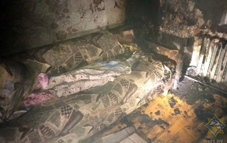 Брат спас брата на пожаре под Барановичами