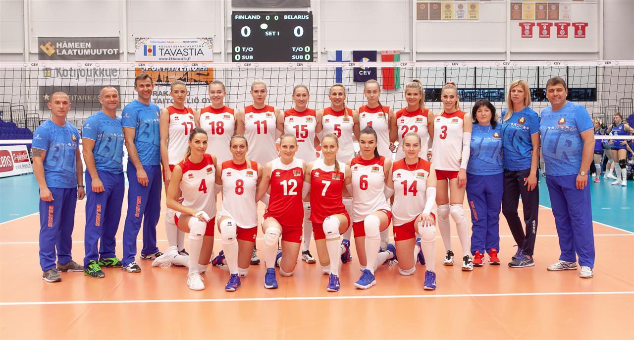 Надежда Столяр (№3) в составе сборной Беларуси. Фото: bfh.by