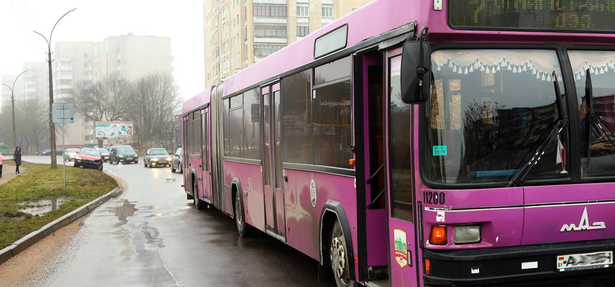 Citroën и городской автобус столкнулись в Барановичах