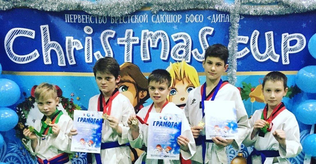 Юные таэквондисты Барановичей успешно выступили на областном турнире