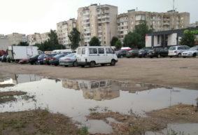Почему в Барановичах больше пяти лет не могут достроить парковку напротив торгового центра