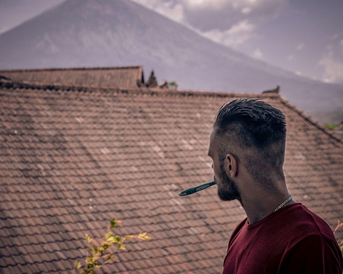 Вид на вулкан Агунг. Фото: архив Максима БУЛАША