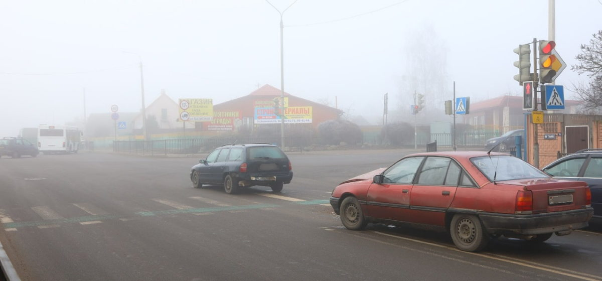 Ford и Opel «поцеловались» на улице Тельмана в Барановичах