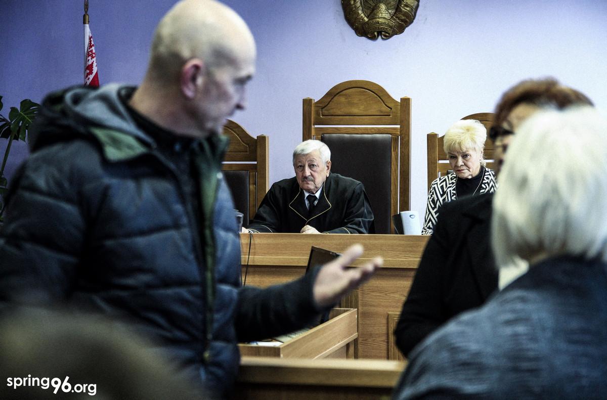 Судья Могилевского областного суда Михаил Мельников, который вынес 10 января смертный приговор братьям Костевым. Фото: spring96.org