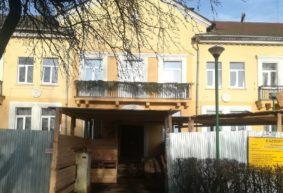 В Барановичах ремонтируют городскую больницу. Фотофакт