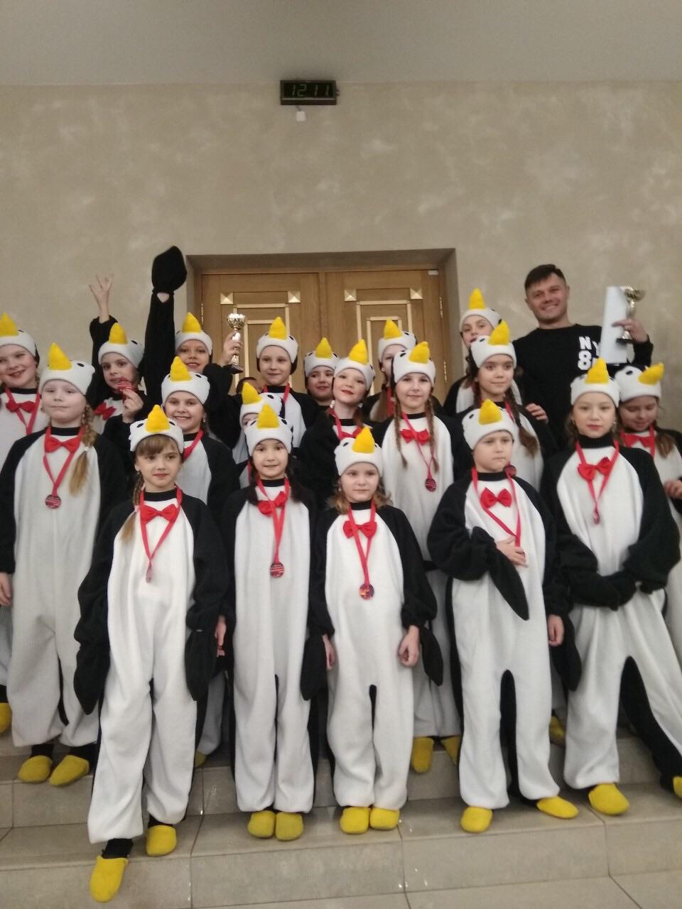 Ансамбль танца «Улыбка» барановичского Дворца культуры завоевал второе место с танцем «Пингвины» (9-11 лет). Фото: личный архив ансамбля танца «Улыбка»