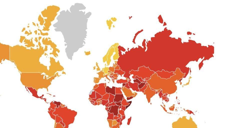 Смотрите, какое место Беларусь занимает по уровню коррупции