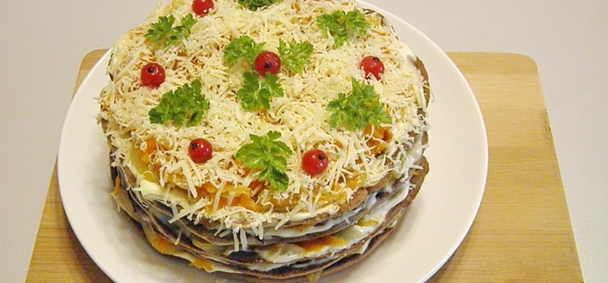 Вкусно и просто. Закусочный торт «Праздничное настроение»