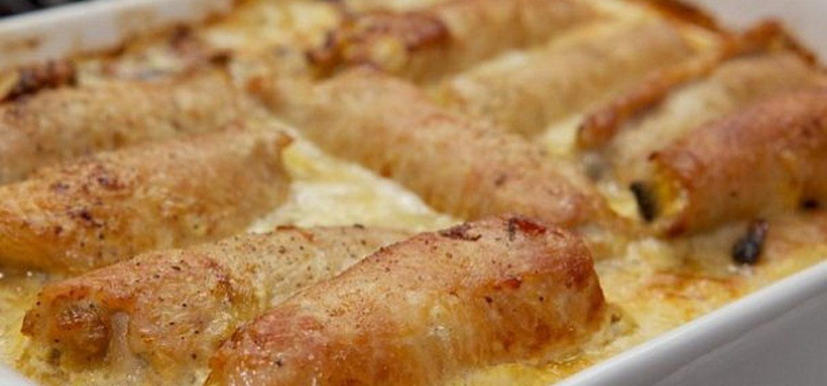 Вкусно и просто. Мясные рулетики с ананасом и сыром