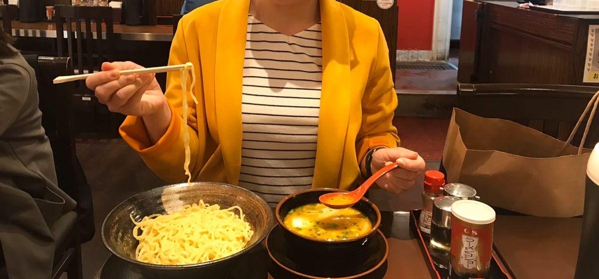 Японское блюдо с яичной лапшой-рамэн. Фото: личный архив Алины СЕВЕЦ