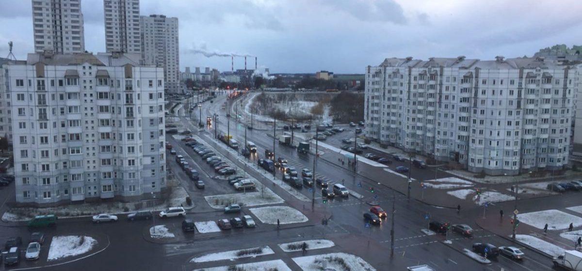 Неожиданно в январе в Минске выпал снег. Фотофакт
