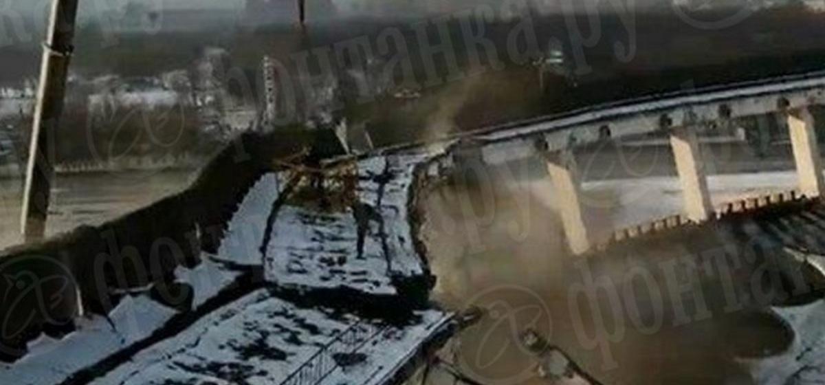 Подробности трагического обрушения в Питере. Видео с камеры на каске рабочего, с дрона, а также запись разговоров