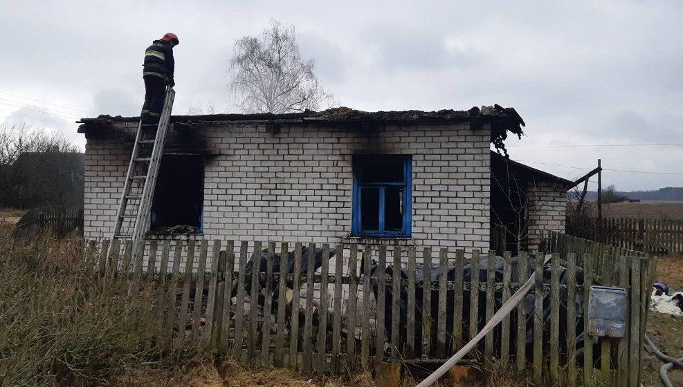 Под Ляховичами в огне погибла пенсионерка