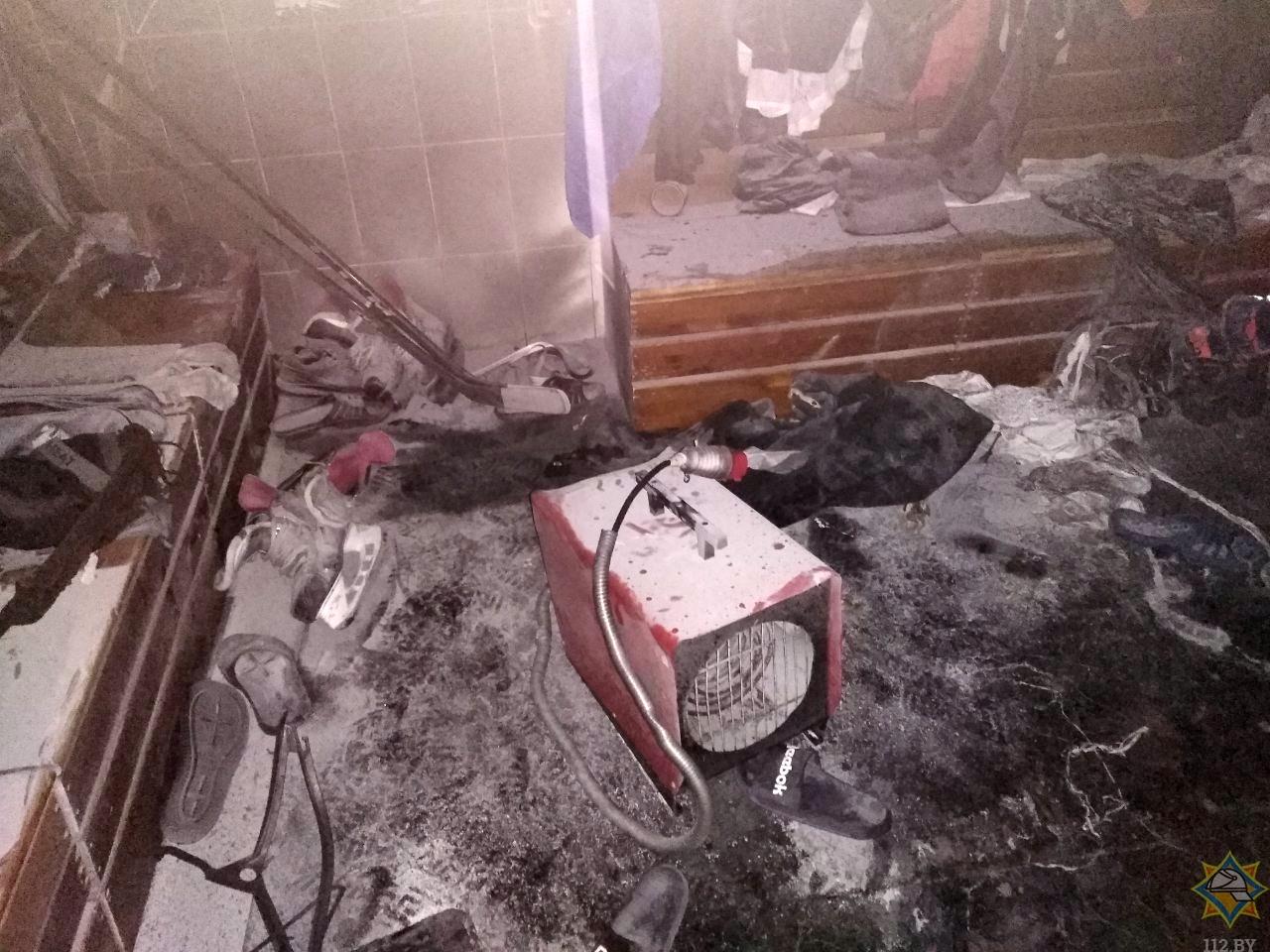 Пожар в Ледовом дворце. Фото: МЧС