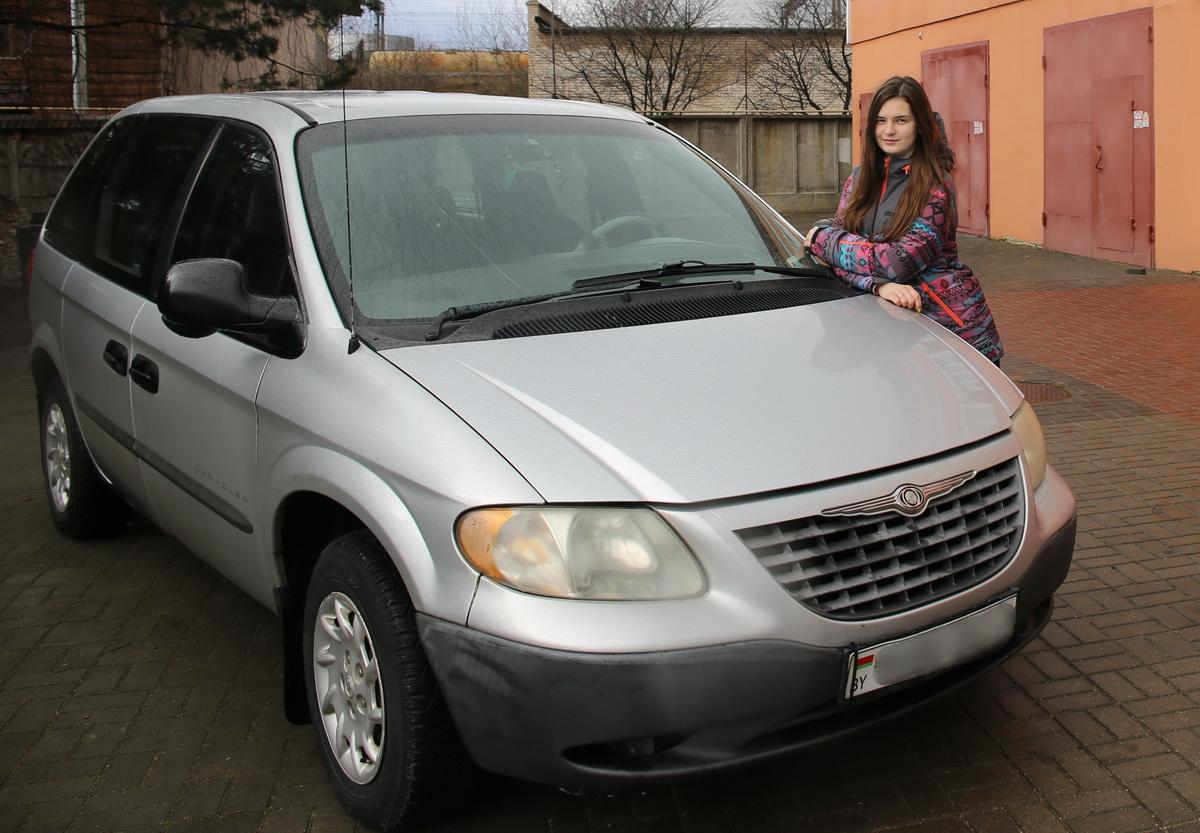 Елизавета Семченко – владелица автомобиля  Chrysler Voyager.  Фото: Татьяна  МАЛЕЖ