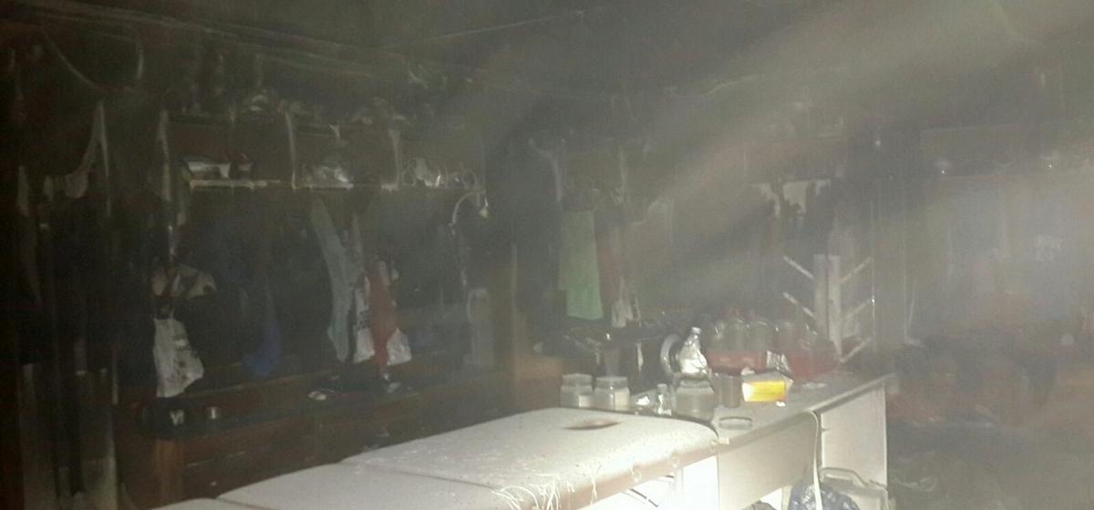 Пожар произошел в Ледовом дворце Бреста