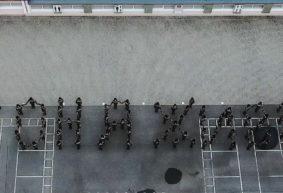 Флешмоб в поддержку Софии Жагунь провели кадеты в Барановичском районе