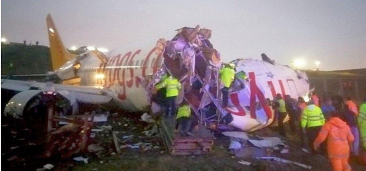 При посадке в Стамбуле потерпел крушение «Боинг»