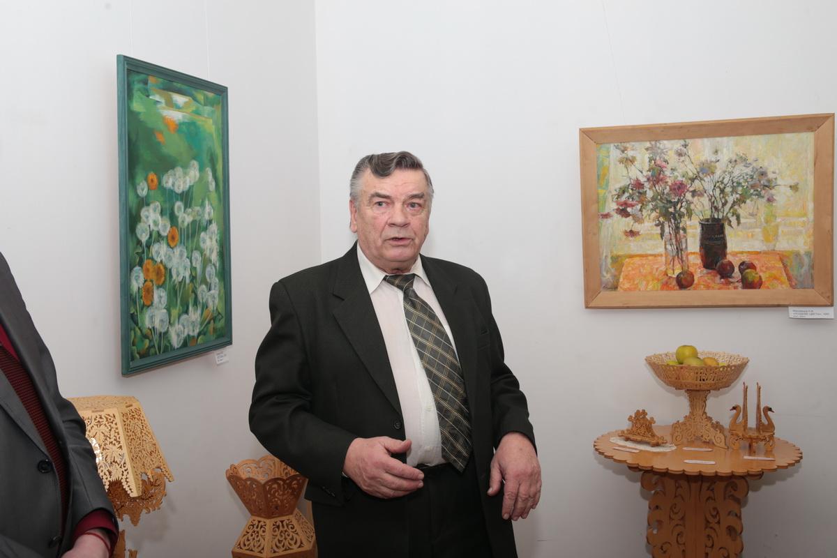 Александр Свирид на открытии  выставки.  Фото: Андрей БОЛКО