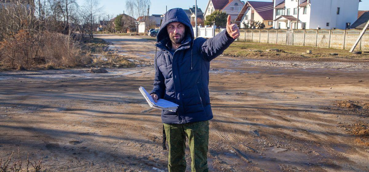 Большегрузам – асфальт, местным жителям – «гравийка». Жители барановичской улицы возмущены, как строят дорогу
