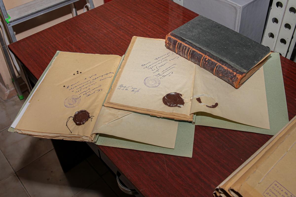 письма, архив, каучуковая печать