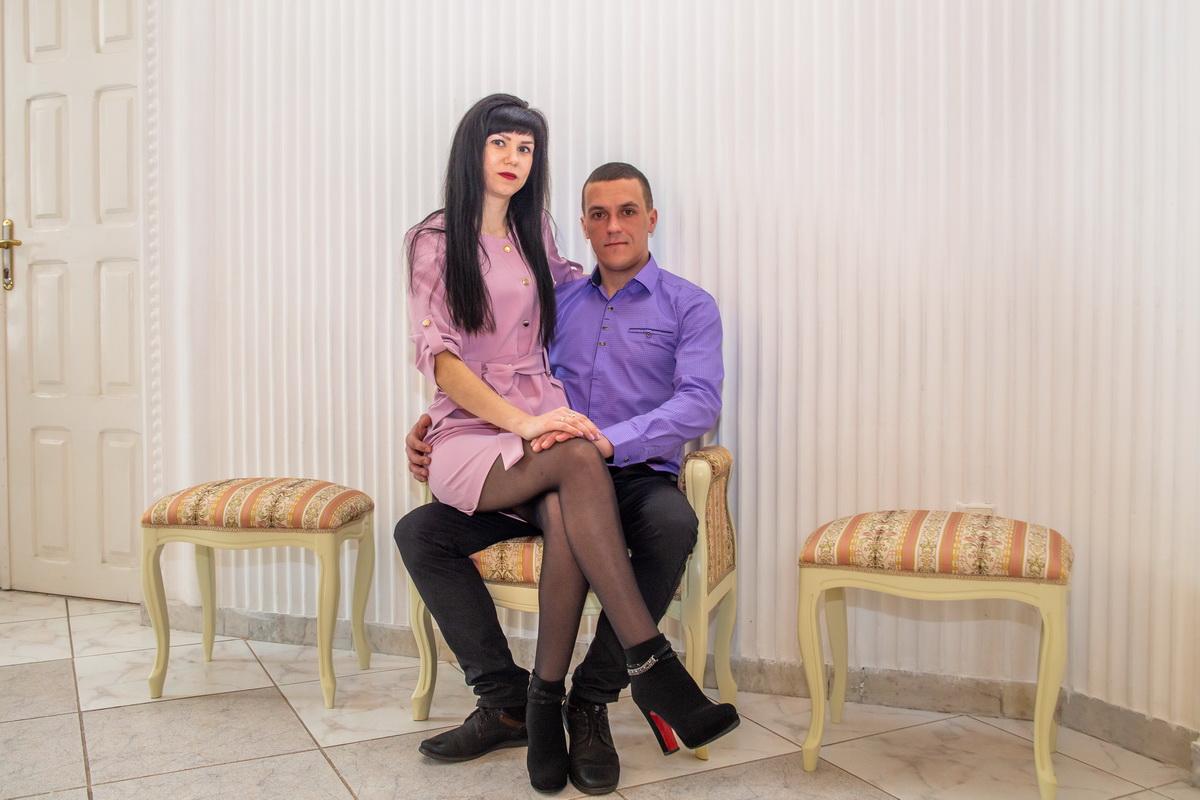 Андрей Приходовский и Татьяна Салоева стали мужем и женой в День влюбленных. Фото: Андрей БОЛКО