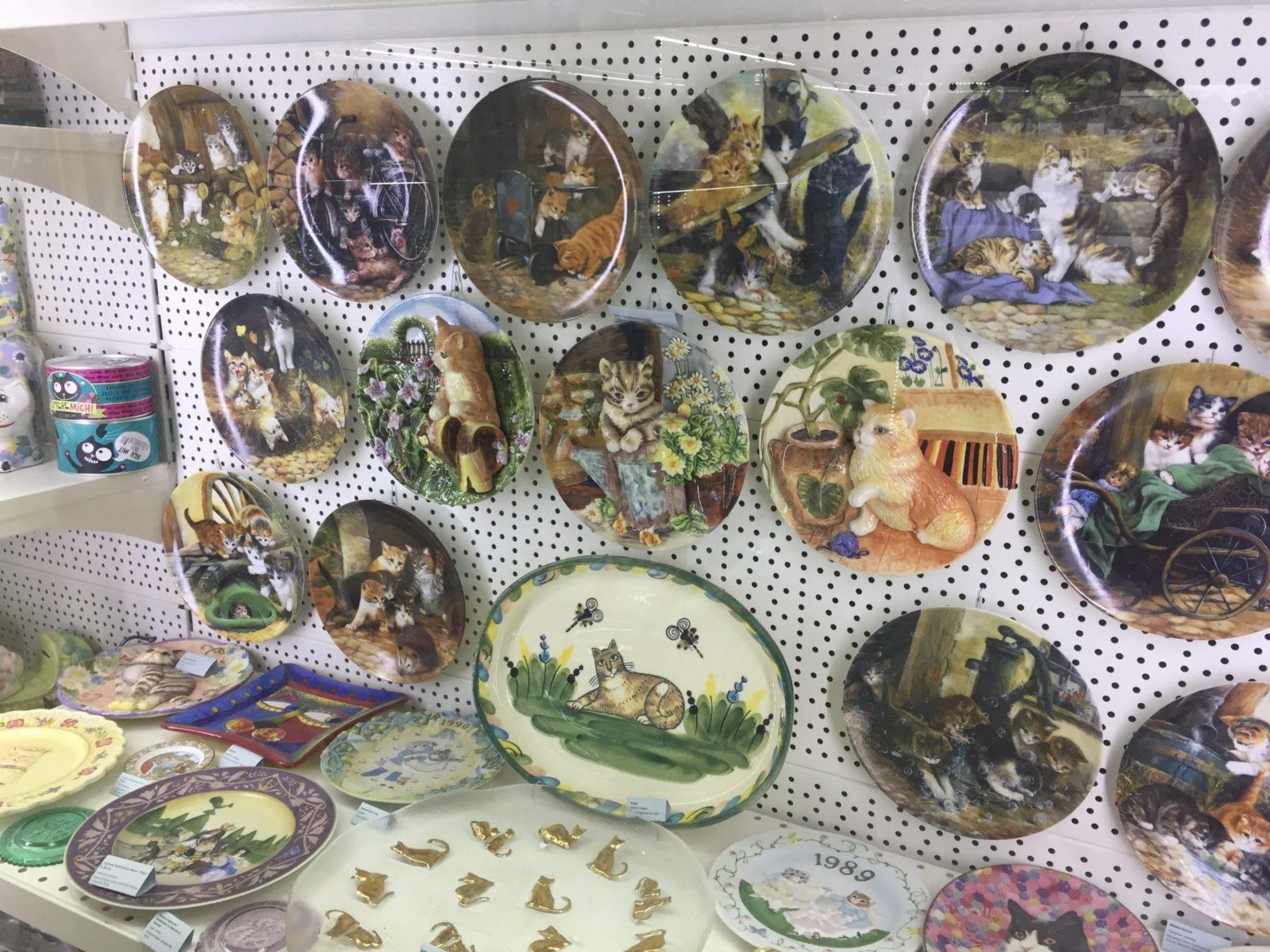 Тарелки для календаря с изображением котов. Фото: Ирина КОМИК
