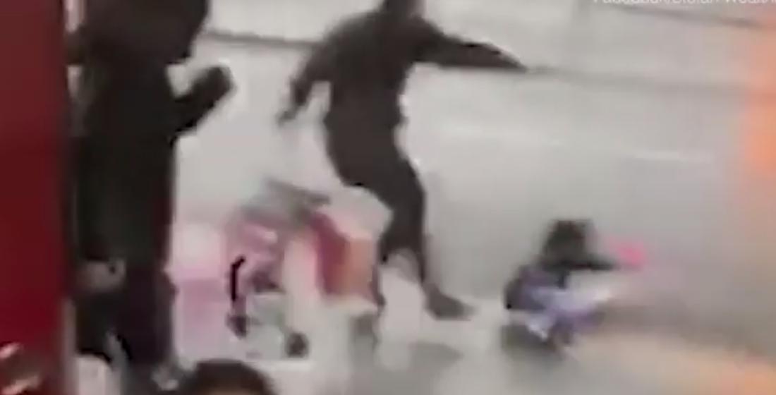В Великобритании во время буйства шторма «Сиара» ветром унесло ребенка. Видеофакт