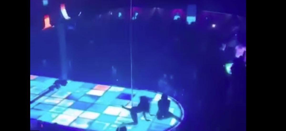 В США голая стриптизерша рухнула с шестиметрового пилона и продолжила танцевать (видео 18+)