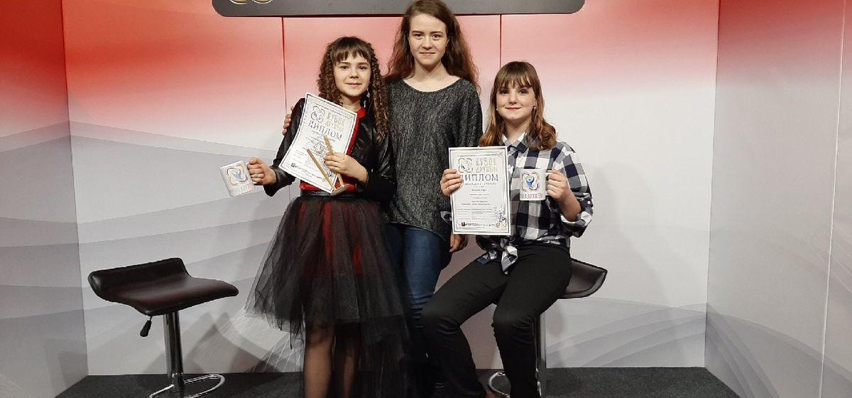 Юные барановичские вокалисты и чтецы вернулись с победами с международного телепроекта «Кубок дружбы»