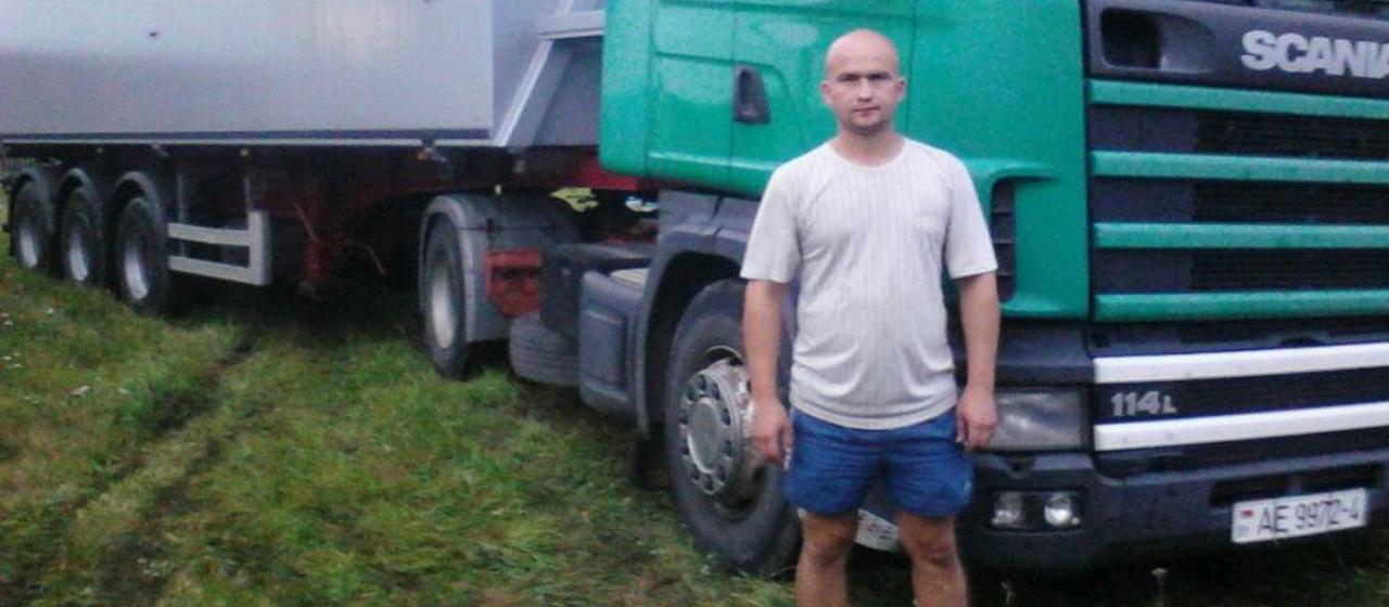 Александр, который пострадал от взрыва снаряда, по профессии водитель. Фото: личный архив
