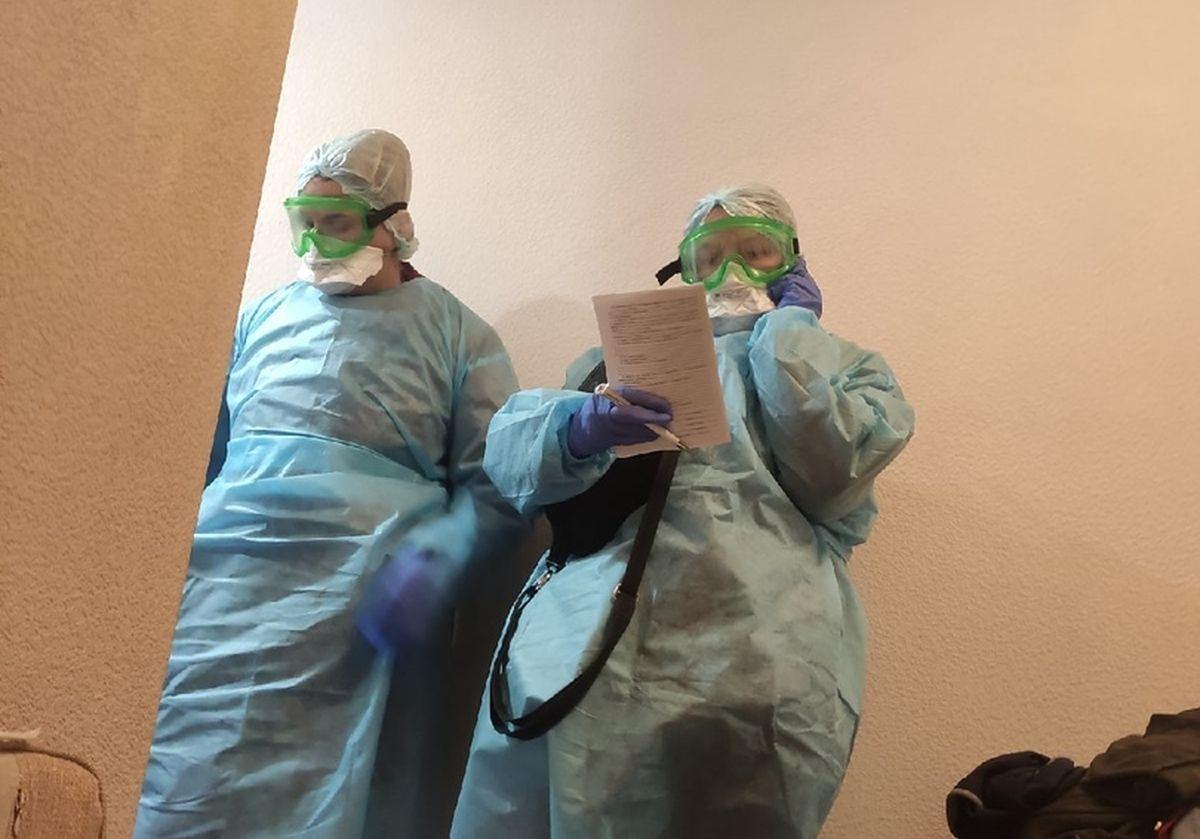 Врачи проверяют студентов из группы, в которой учился молодой человек, заразившийся вирусом. Фото студента БНТУ