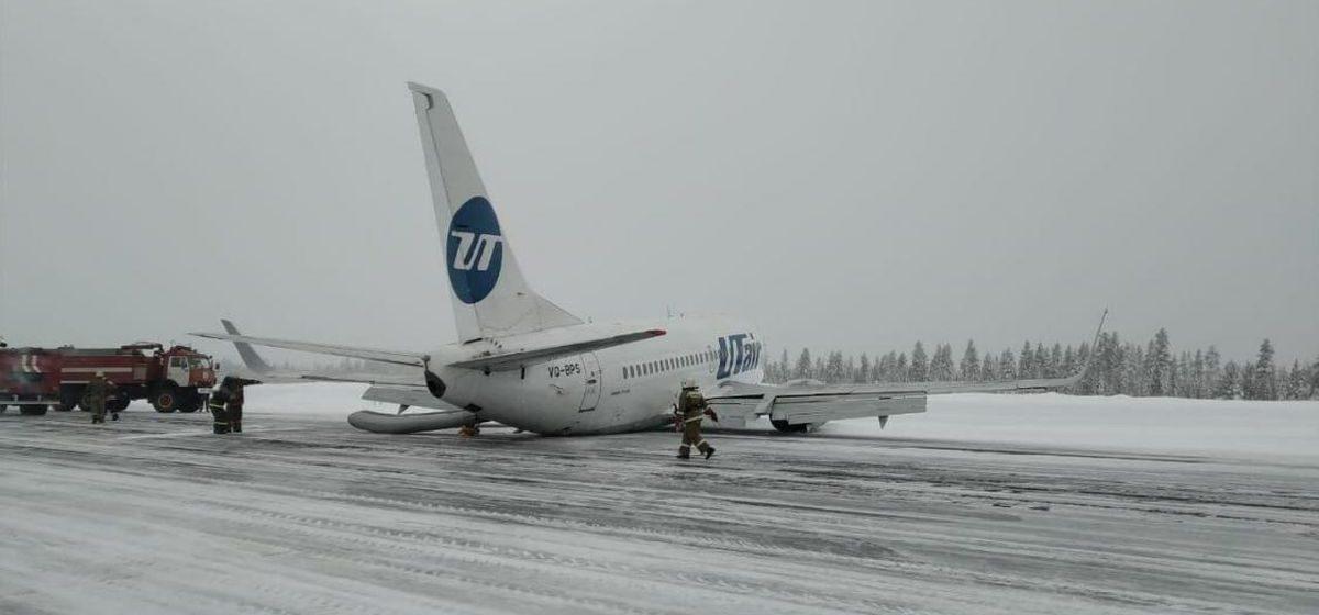 Жесткая посадка пассажирского самолета Boeing-737 в России попала на видео