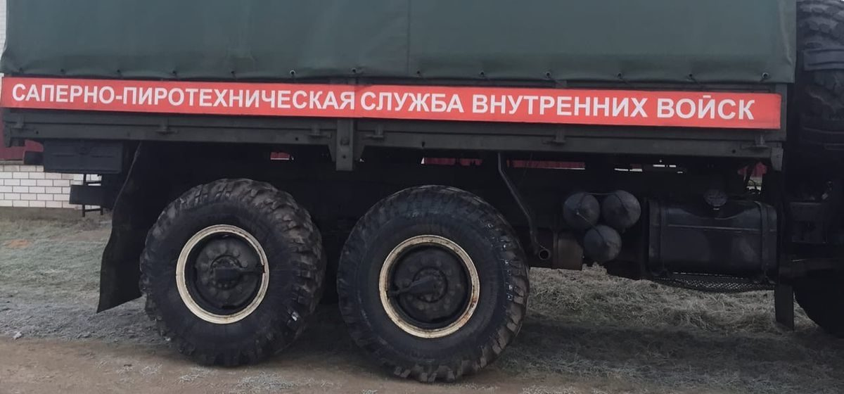 Ящик со взрывателями для  артиллерийских снарядов обнаружили в Барановичском районе