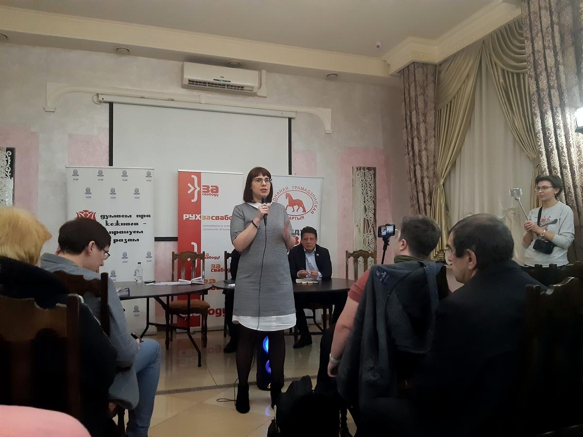 Ольга Ковалькова на праймериз. Фото: Елена ЗЕЛЕНКО