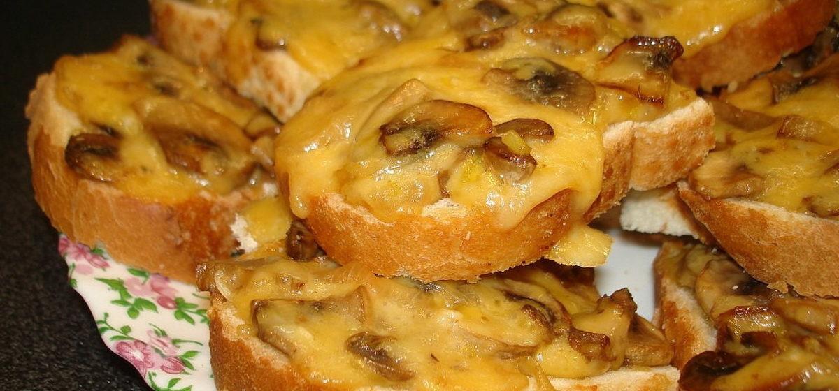 Вкусно и просто. Горячие бутерброды с грибами и сыром в духовке